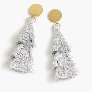 j crew | tiered tassel earrings